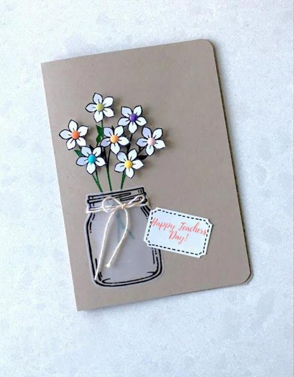 quà tặng cô giáo chủ nhiệm - thiệp handmade